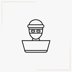 thief line icon