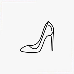 lady shoe line icon