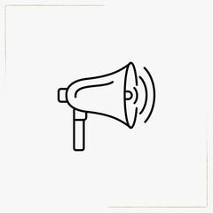 loudspeaker line icon