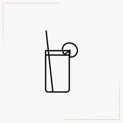 soft drink line icon