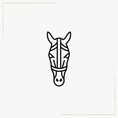 horse line icon