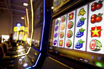 Fototapeta Slot machines in casino
