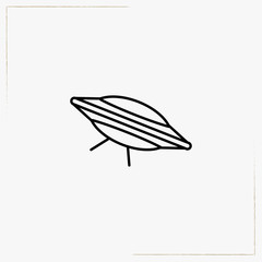 unknown flying object line icon