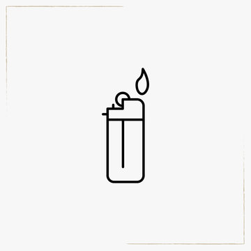 lighter line icon