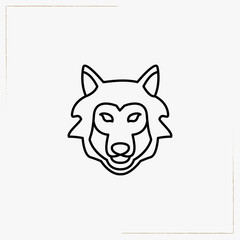 wolf line icon