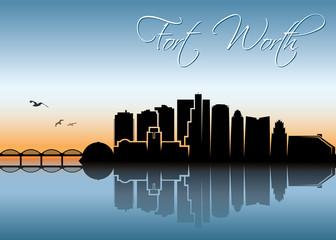Fort Worth skyline, Texas
