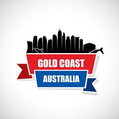 Gold Coast skyline - ribbon banner - Australia