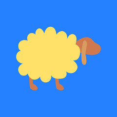 Fluffy sheep has long ears
