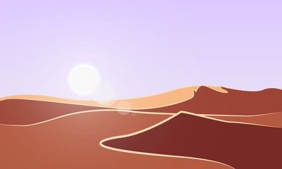 Abstract sunny background of the desert