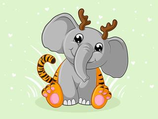 Niedlicher Comic Tigerfant