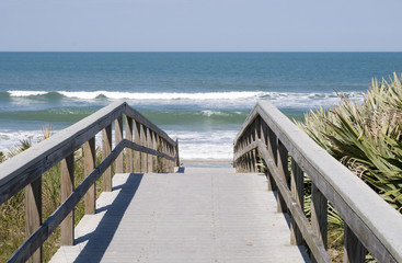 Boardwalk at Canaveral National Seashore in Florida