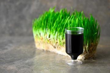 Wheatgrass drink shot