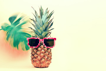 Pineapple wearing sun glasses