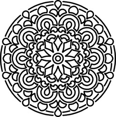 Figure mandala for coloring