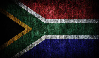 Abstract flag South Africa, Africa
