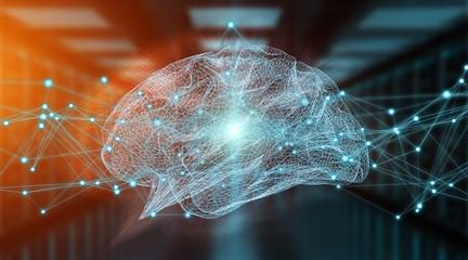 Wall Mural - Human brain digital x-ray 3D rendering