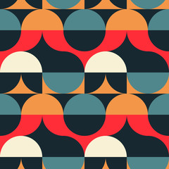 Circles illusion seamless pattern. For print, fashion design, wrapping wallpaper