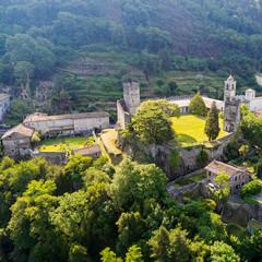 Corenno Plinio - Lago di Como (IT) - Vista Aerea del castello