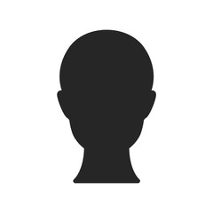 Human head isolated on white background. Vector stock.