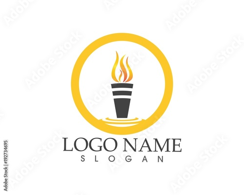 torch icon sign logo stock image and royalty free vector files on