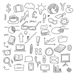 Hand Drawing Business Doodle Vector