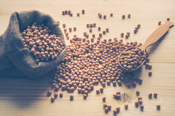 Chickpea beans. Ingredient for healthy vegetarian meals. Toning.