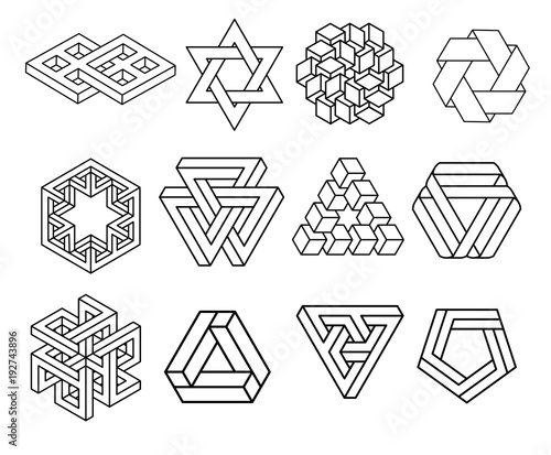 sacred geometry symbols collection stock image and royalty free