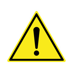 Exclamation sign, Danger Warning, Isolated, Caution icon Warning symbol,