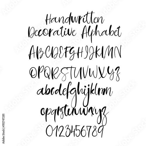 Modern calligraphy alphabet handwritten brush letters uppercase modern calligraphy alphabet handwritten brush letters uppercase lowercase hand lettering font for m4hsunfo