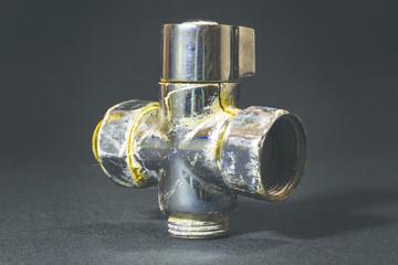 Broken old water tap