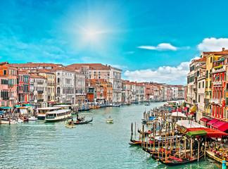 venice city in a sunny day