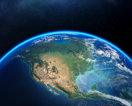 Earth from space North America