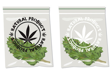marijuana bud bag natural product