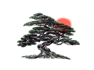 Bonsai is oriental.