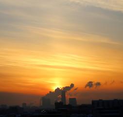 Photo of a beautiful sunset landscape