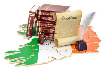 Constitution of Ireland concept, 3D rendering
