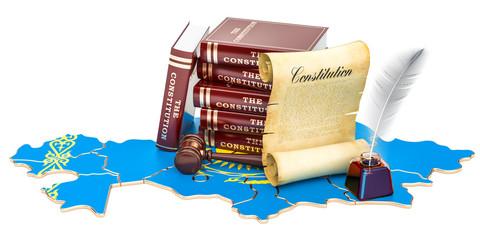 Constitution of Kazakhstan concept, 3D rendering