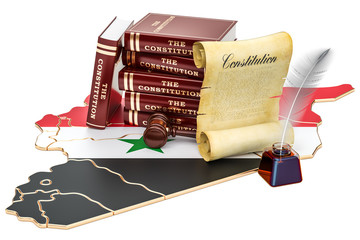 Constitution of Syria concept, 3D rendering