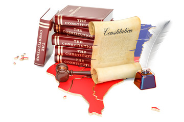 Constitution of Taiwan concept, 3D rendering