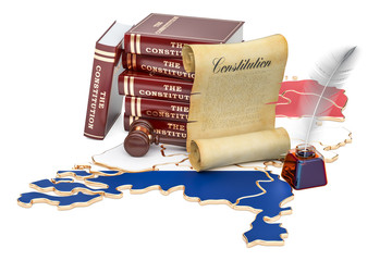 Constitution of the Netherlands concept, 3D rendering