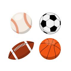 Sports balls on white background vector illustration.