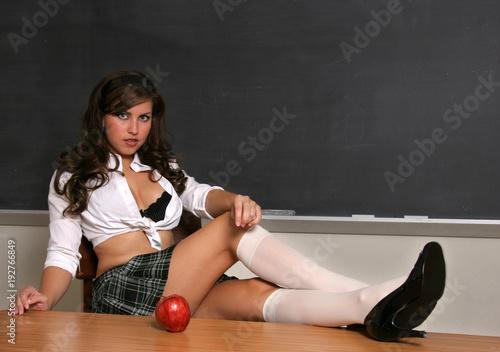 Sexy School Girl At Chalkboard 4