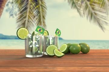 Brazilian Caipirinha And Beach #1 - Photo Realistic (3d Rendered)