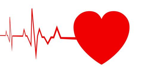 Heart pulse sign, cardiogram - stock vector