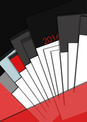 black and red calendar