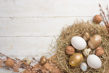 Aluminium Prints Bread Easter eggs