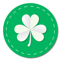 St. Patrick's Day Clover Shamrock Icon Circle