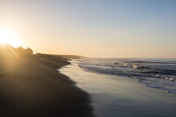 Lever de soleil à Las Peñitas, Nicaragua