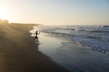 Courir vers la mer