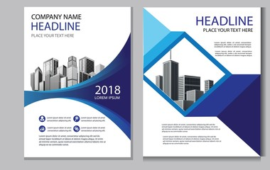 design cover annual report brochure layout flyer poster magazine business template